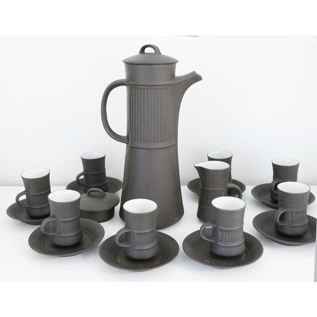 Ceramic Vintage Dansk Flamestone Coffee Set / Jens Quistgaard - Set of 19 For Sale - Image 7 of 7
