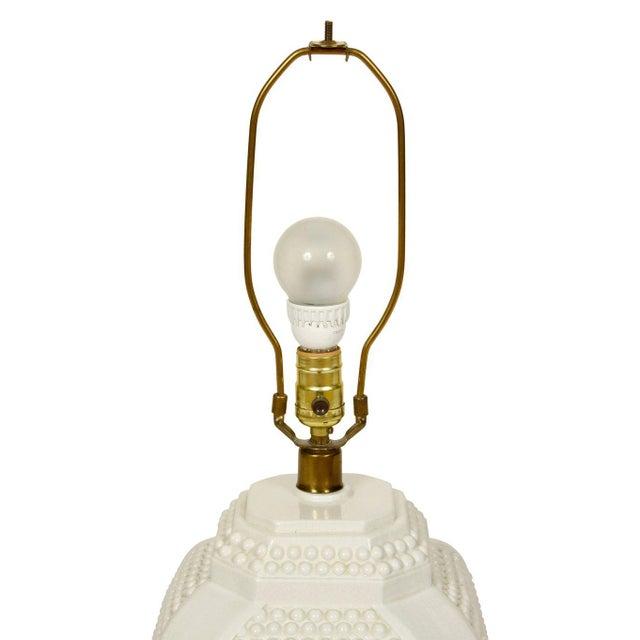 Pair of White Ceramic Lamps - Image 3 of 4