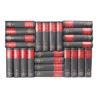 Mid Century Leather-Bound Books S/24