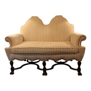 Shaped Back Loveseat For Sale