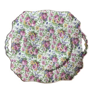 "1930s Vintage Chintz ""Summertime"" Platter For Sale"
