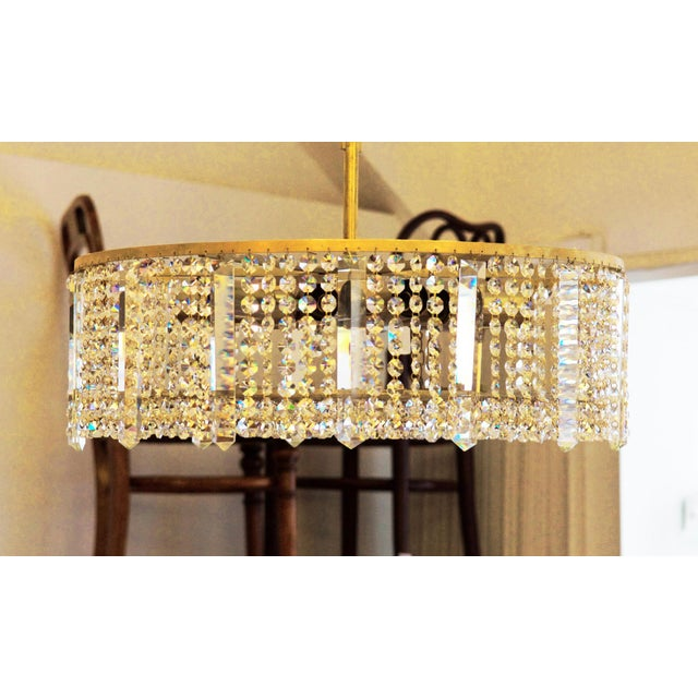 Mid-Century Modern Austrian chandelier made of cut metal by Bakalowits & Söhne For Sale - Image 3 of 11