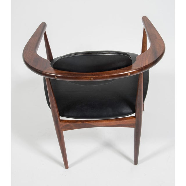 Craft Associates Adrian Pearsall Craft Associates Mid Century Black Leather 950 Chairs - a Pair For Sale - Image 4 of 13