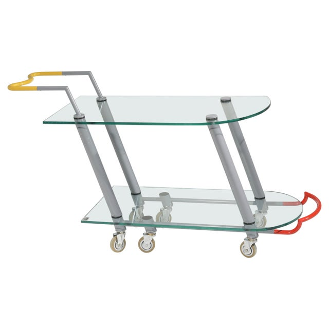 Hilton Trolly Bar Cart by Javier Mariscal for Memphis, 1981 For Sale - Image 13 of 13