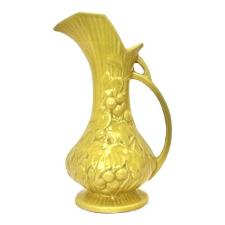 McCoy Yellow Grape Vine Pitcher For Sale