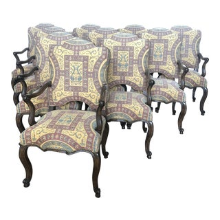 Minton Spidell Upholstered Dining Chairs - Set of 10 For Sale