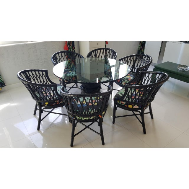Country McGuire Rattan Sheath of Wheat Dining Set - 7 Pieces For Sale - Image 13 of 13