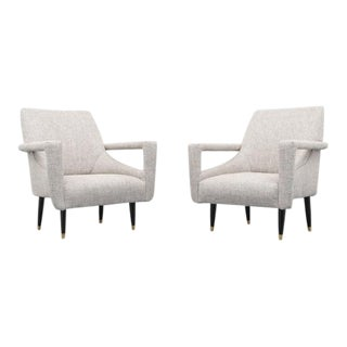 Pair of Lounge Chairs in Manner of Ico Parisi For Sale