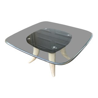 1970s Contemporary Faux Elephant Tusks Coffee Table For Sale