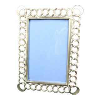 Mid 19th Century English Brass Chain Link Photo Frame For Sale