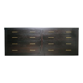 Ebonized Black Wood Dresser