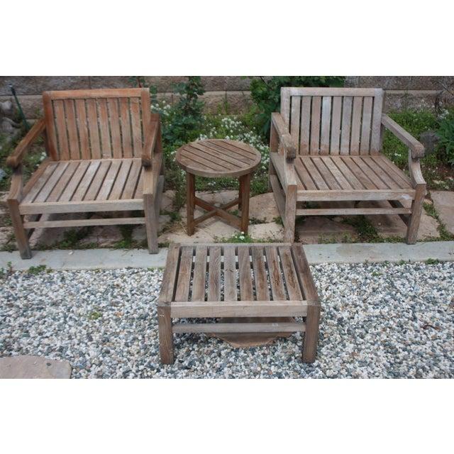 Teak Wood Patio Set - 8 Piece Set - Image 8 of 8