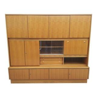 1960s Munker-Mobel West German Mid Century Modern Teak Wall Unit For Sale