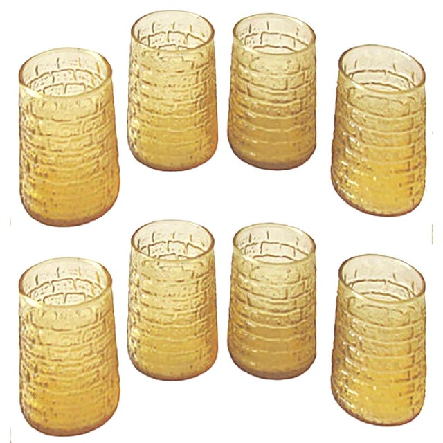 Mid-Century Modern Mid-Century Faux Bamboo Juice Glasses, C.1960, Set of 8 For Sale - Image 3 of 3