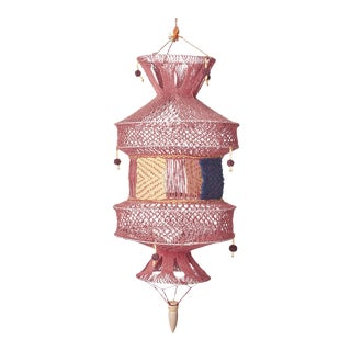 Boho Chic Handmade Mauve Lantern For Sale