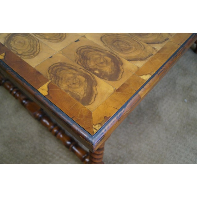 Quality English Oyster Wood Large Coffee Table - Image 5 of 9