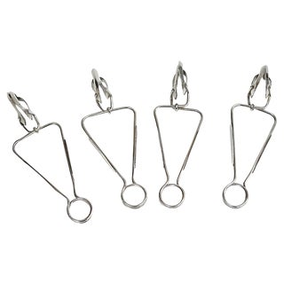 Christofle Escargot Clamps, S/4 For Sale