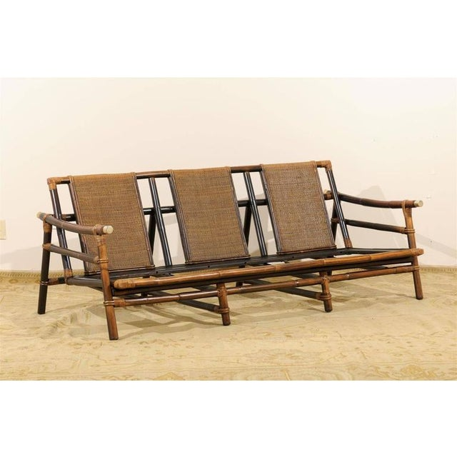 Asian Rare Sofa by John Wisner for Ficks Reed For Sale - Image 3 of 11