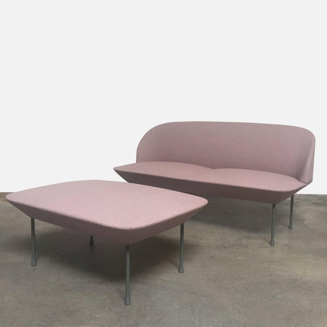 2010s Pink Oslo Sofa & Ottoman- 2 Pieces For Sale - Image 5 of 6