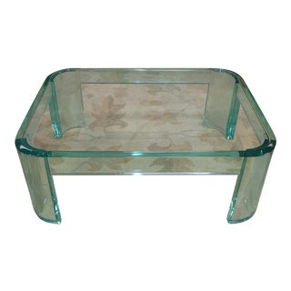 Les Prismatiques Green Lucite Luna Coffee Table For Sale