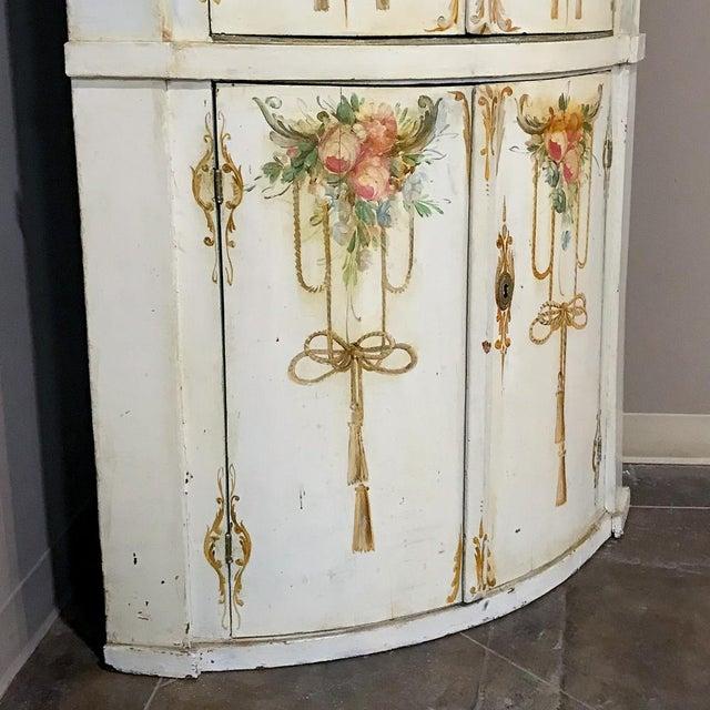 Louis XVI 19th Century Swedish Painted Corner Cabinet For Sale - Image 3 of 13