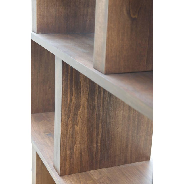 "Wood Contemporary Design Frères Tall ""Verticale"" Shelving Unit For Sale - Image 7 of 10"