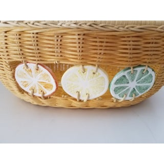 Lime Lemon Orange Weaved Fruit Basket Preview