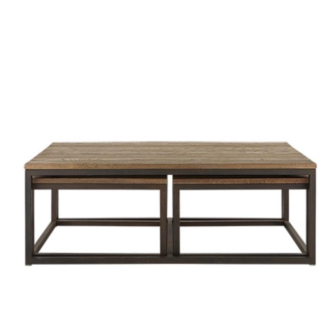 Arhaus Palmer Nesting Coffee Tables Piece Set Chairish - 3 piece nesting coffee table