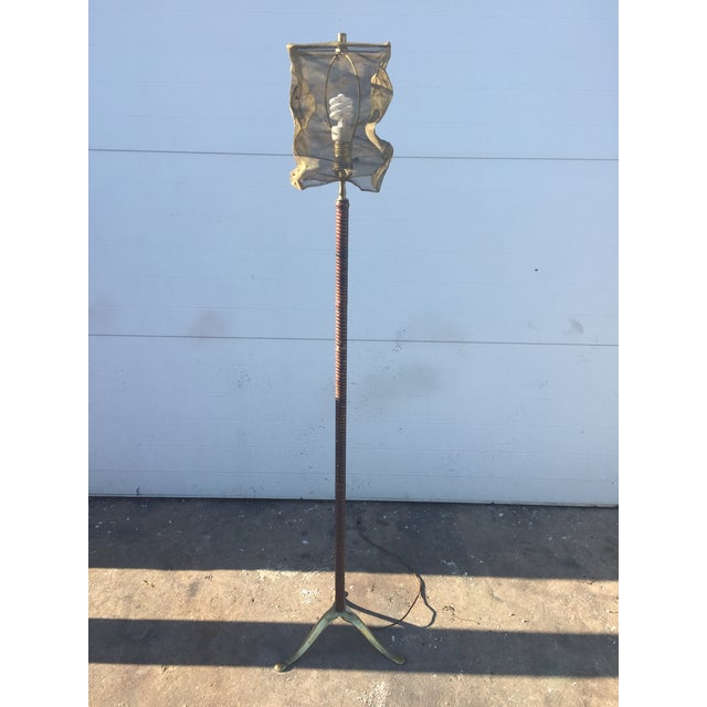 Vintage Floor Lamp With Screen Shade - Image 8 of 8