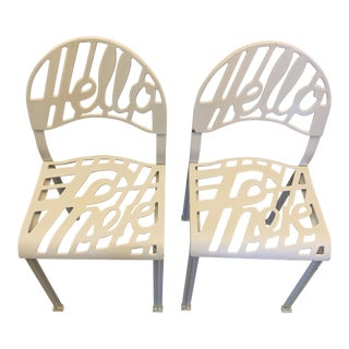 Artifort Hello There Chairs by Jeremy Harvey - A Pair For Sale