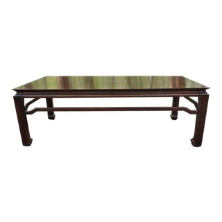 Mid Century Quartersawn Oak Chinoiserie Coffee Table