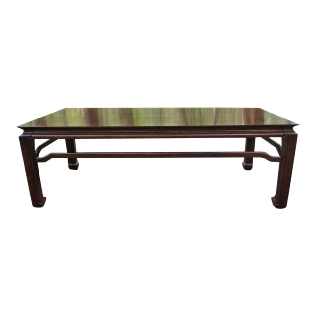Mid Century Quartersawn Oak Chinoiserie Coffee Table For Sale