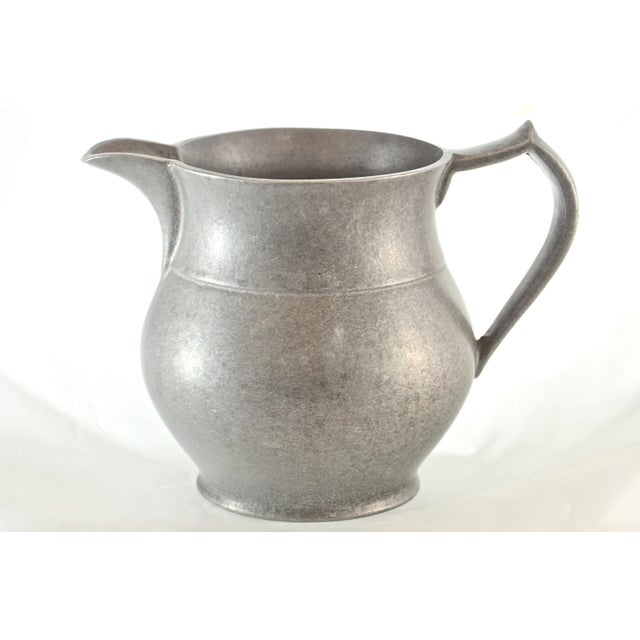 Mid 20th Century Vintage Pewter Tavern Pitcher For Sale - Image 5 of 9
