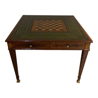 Traditional Maitland - Smith Chess and Backgammon Game Table For Sale