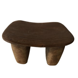 "African Senufo Wood Milk Stool I . Coast 11.75"" W"