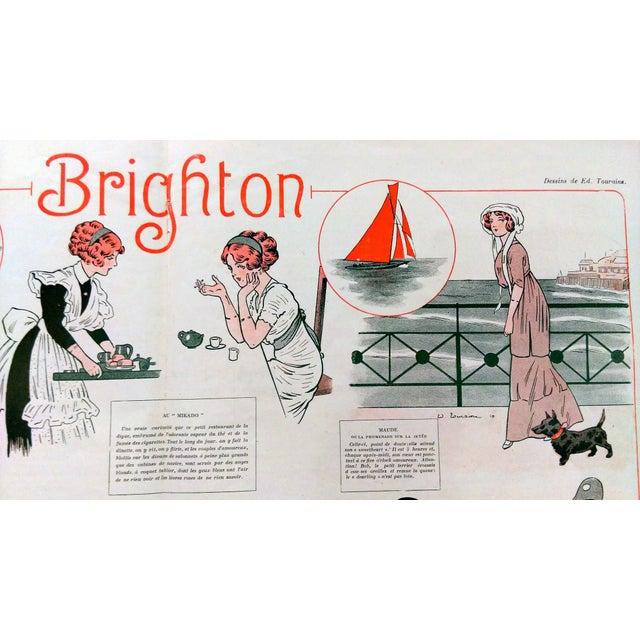 "1910 La Vie Parisienne ""Brighton Beach"" Print - Image 3 of 7"