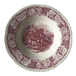 Vintage Ponce De Leon Red Toile Bowl For Sale