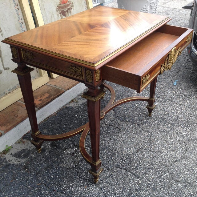 Metal Fine French Ladies Writing Table For Sale - Image 7 of 13