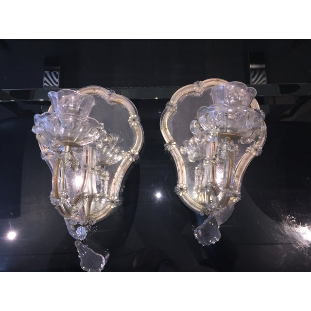Vintage Candlestick Wall Mirrors - A Pair - Image 2 of 3
