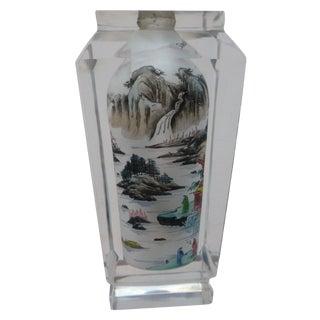Vintage Japanese Scenic Bud Vase