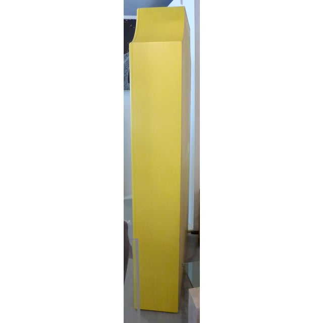 Mirrored Etagere Cabinet Glass Shelves Yellow - Image 7 of 7
