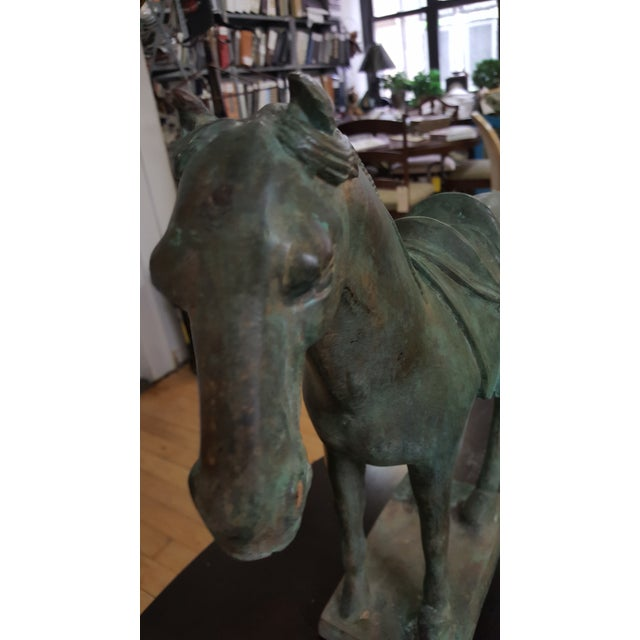 Bronze Bronze Patina Horse For Sale - Image 7 of 11