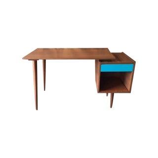 Mid-Century Style Custom Walnut Desk For Sale
