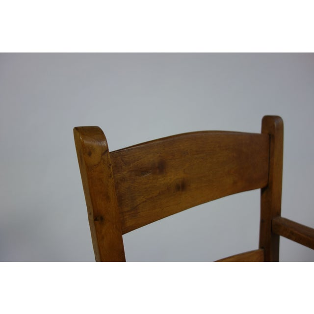 Rustic Armchair With Rush Seat - Image 5 of 6