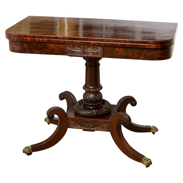 exquisite american mahogany fold over table decaso