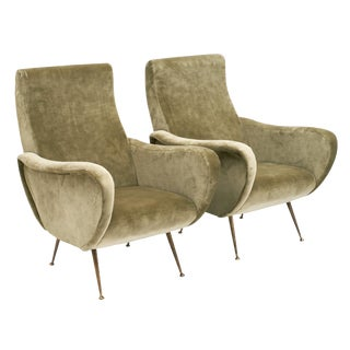 1950s Italian Mid Century Lady's Armchairs - a Pair For Sale
