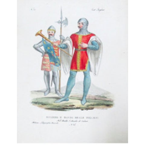 Italian C. 1799 Vintage Italian Prints of Soldiers - Pair For Sale - Image 3 of 3