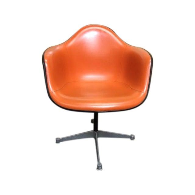 Herman Miller Eames Vintage Orange Swivel Chairs For Sale