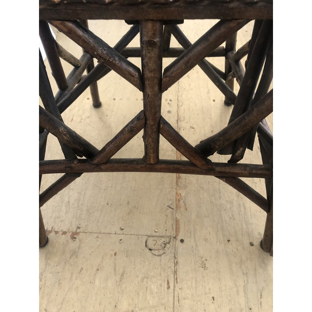 Antique Rustic Adirondack Twig Chair For Sale - Image 12 of 13