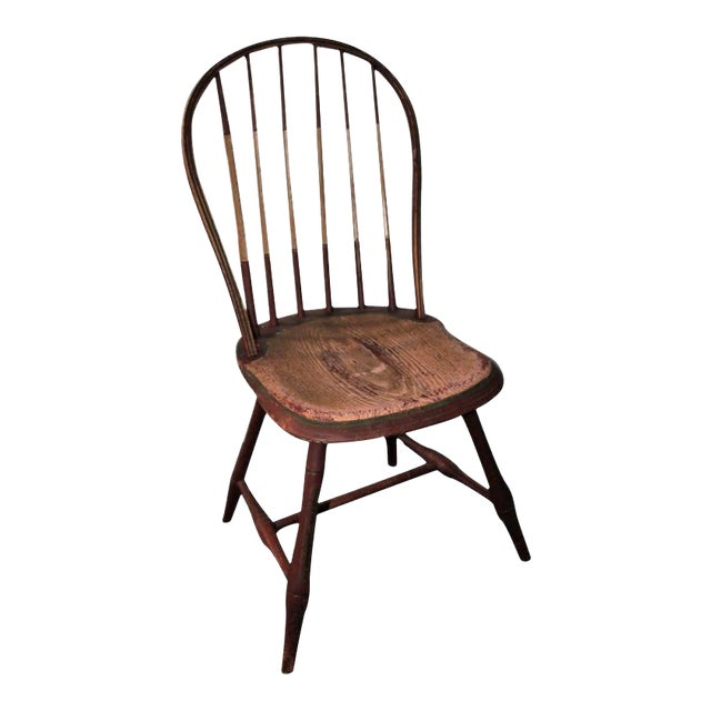 Early 19Thc Original Paint Decorated Windsor Side Chair For Sale
